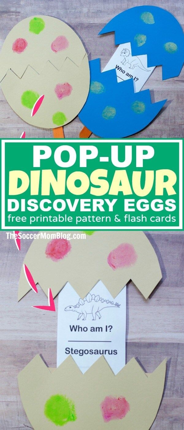 A double boredom buster! These Kids Dinosaur Discovery Eggs are both a clever craft and an exciting learning game to help kids identify different dinosaurs. (ad)