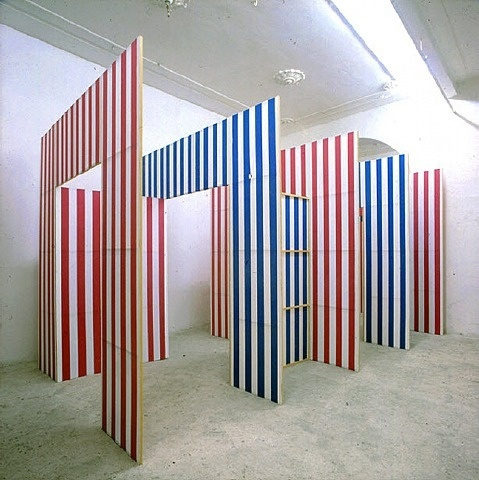 artnet Galleries: Chemin: Les Portes by Daniel Buren from Galeria Hilario Galguera