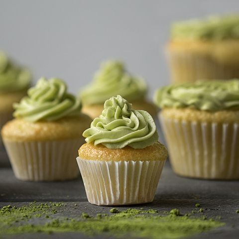 Matcha Buttercream Frosted Cupcakes