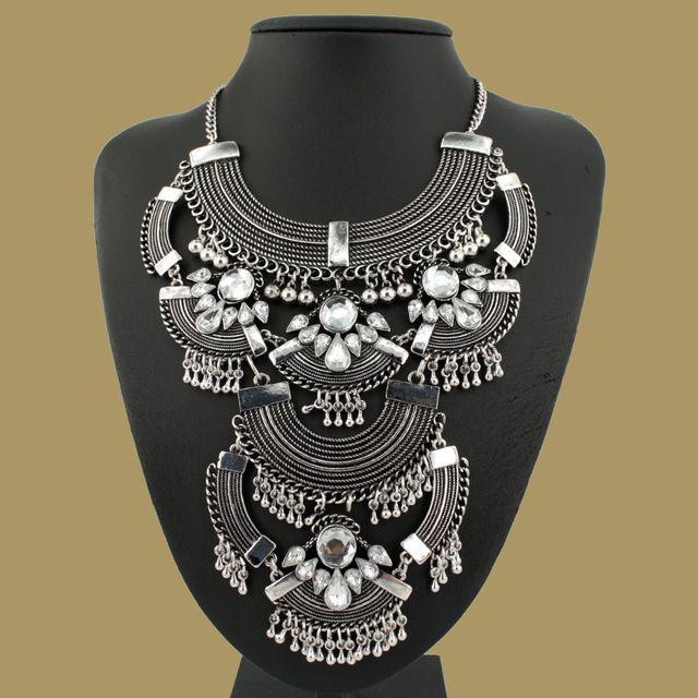 Старинные ожерелья богемный моды большое заявление Ожерелья и Кулоны воротник короткой цепи, колье для женщин изящных ювелирных изделий