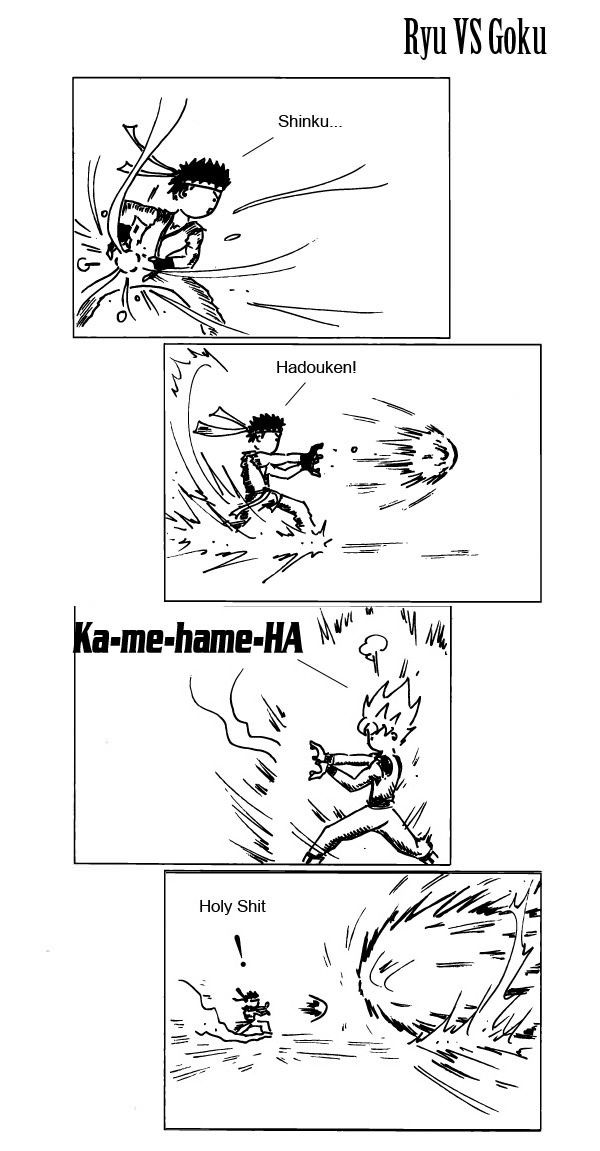 Ryu VS. Goku - funny pictures / funny pics / lol /  #humor #funny #funnypictures…