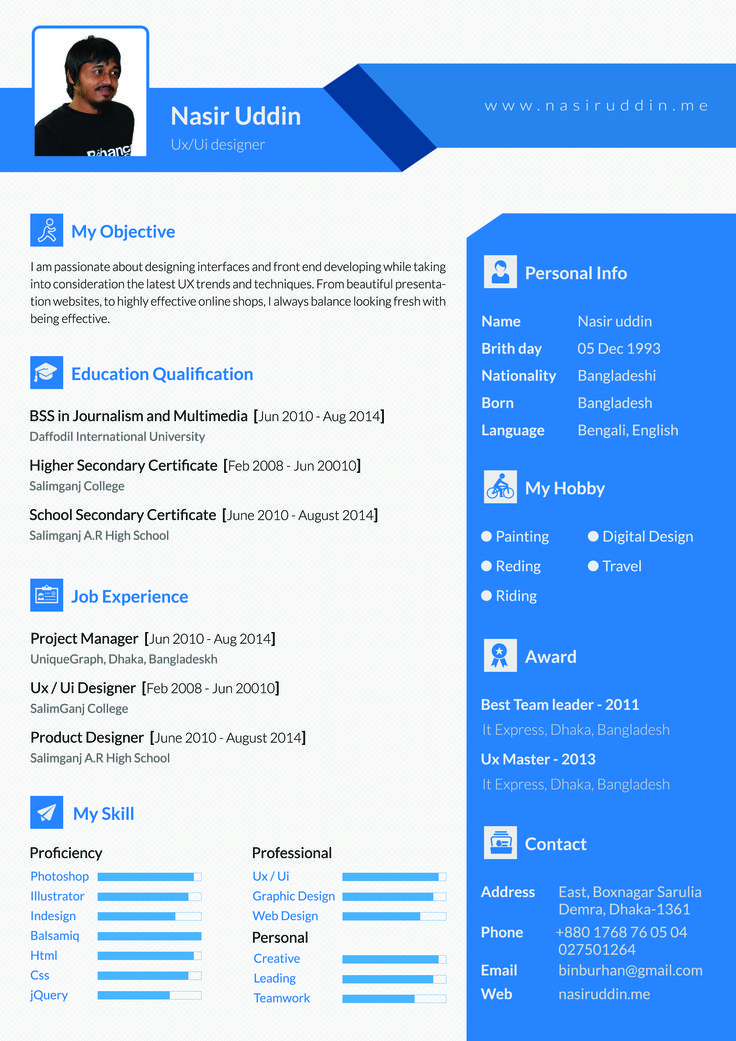 example 10 i will design resume awesome cv for you for 5https