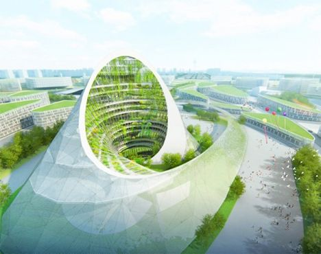 Modern, sustainable architecture will be coming to Kazakhstan in a big way in 2017, with the capital city of Astana hosting that year's World Expo. Forty-six designs have been unveiled for the site master plans by architecture firms around the world, on the theme of 'Future Energy.' Each concept presents a unique perspective on green architecture that creates its own energy and uses it as efficiently as possible, including this futuristic rendering by Studio Pei-Zhu & Slab Architecture.