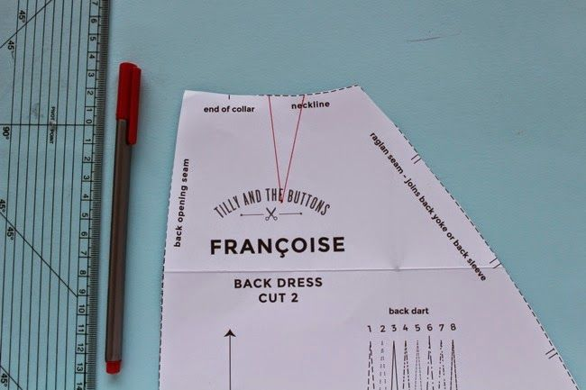 Modifications de la toile robe Francoise