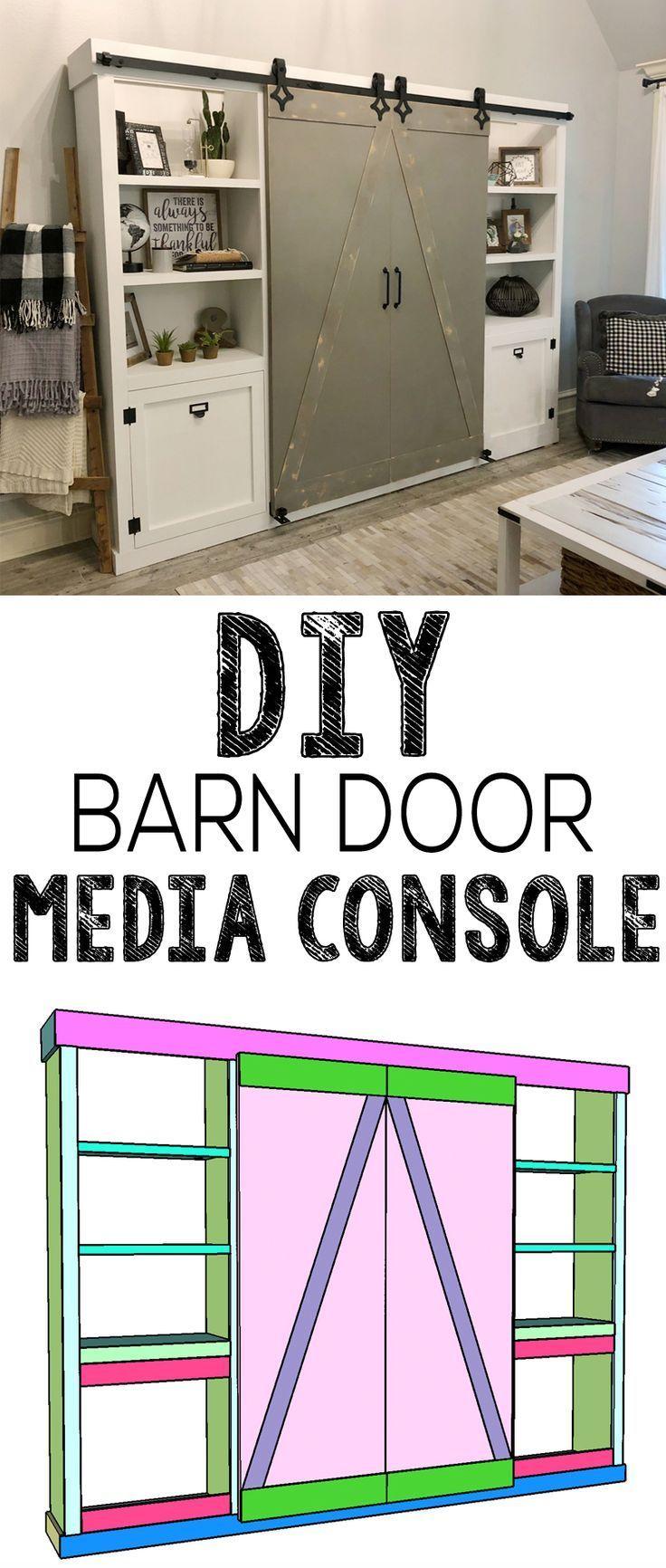 Diy Barn Door Media Cabinet Free Plans How To Video Diy Barn Door Barn Door Cabinet Diy Door