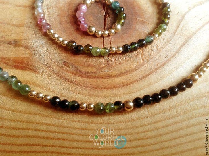 Купить Турмалиновое настроение / бусы // Tourmaline Mood / Beads