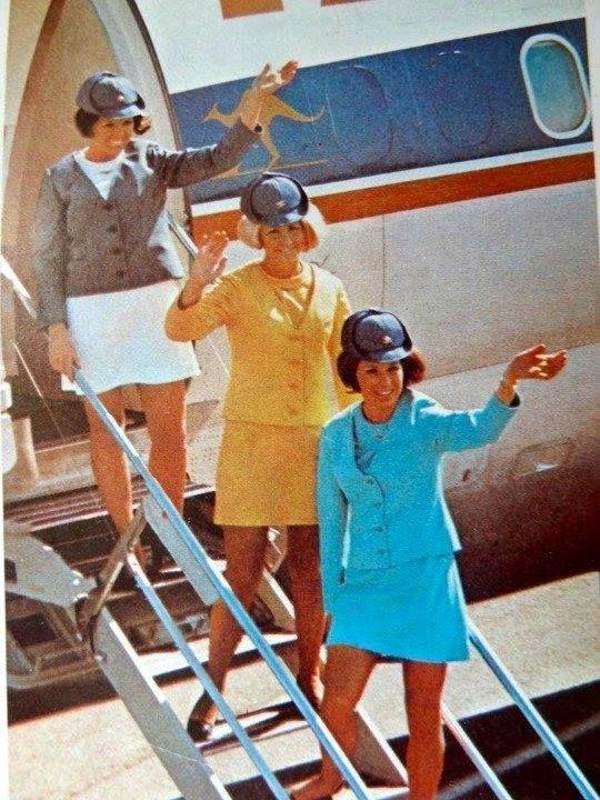 TAA hostess uniform as worn in the 70s