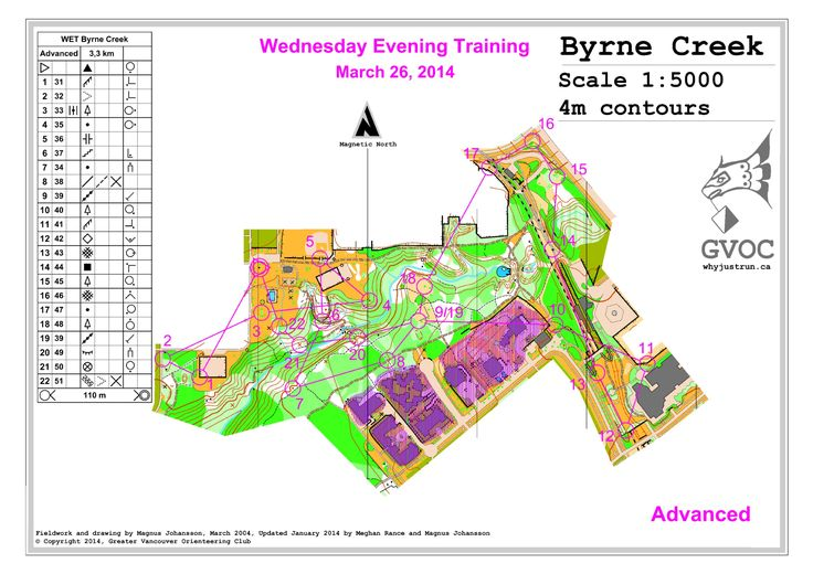 March 26th 2014 6:30pm - Byrne Creek - Advanced course