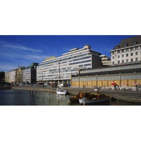 Buildings at the waterfront Palace Hotel Helsinki Finland Canvas Art - Panoramic Images (24 x 12)