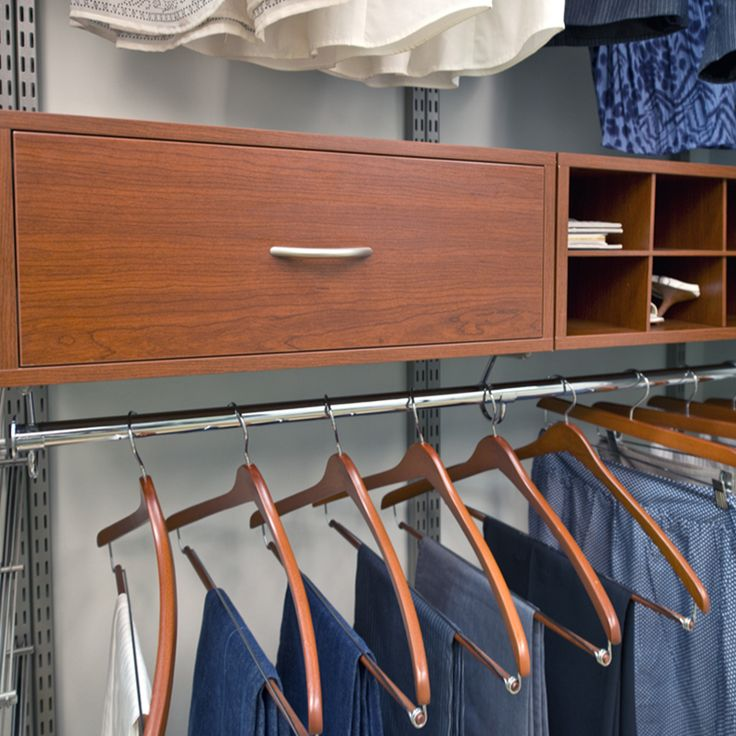 Use the Organized Living closet design tool to plan your custom organized space, save it, share it, or order the system.