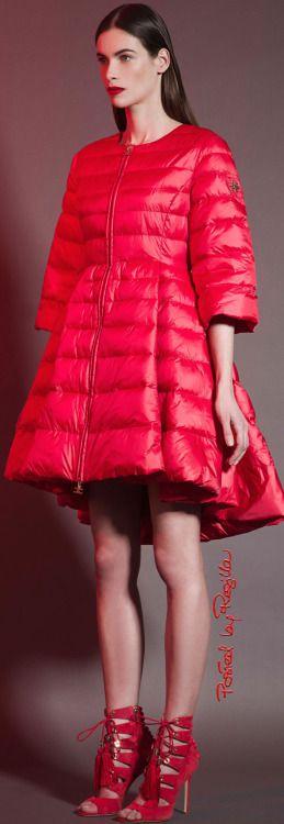 Elisabetta Franchi ~ Spring Red Bubble Coat 2015