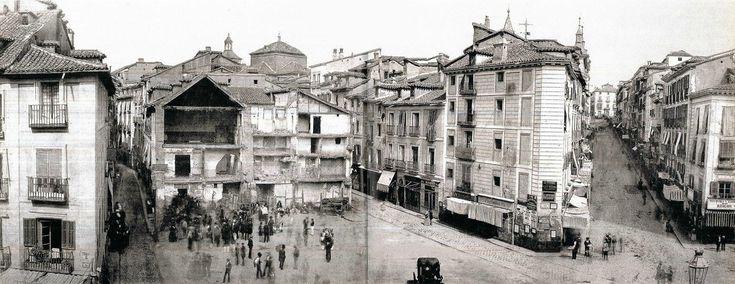 Obras en la Puerta del Sol. 1919