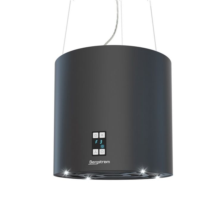 Bergstroem Design Inselhaube Dunstabzugshaube freihängend Deckenhaube matt Schwarz: Amazon.de: Küche & Haushalt