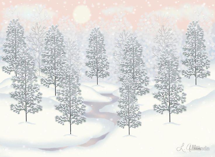 Snowy Day Winter Scene Print