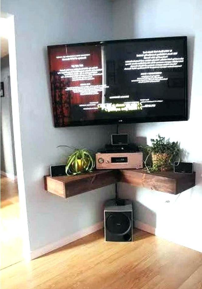 Tv Mounting Brackets With Shelf Corner Wall Mounted Tv Unit