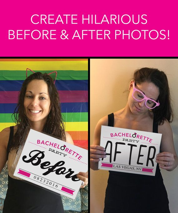 Bachelorette Party Ideas - Before And After Photo Prop by CreativeUnionDesign