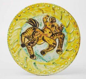 Picasso/ceramic plate kentaur