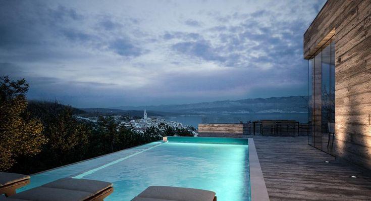Vrbnik, Insel Krk: Neubauprojekt mit Infinity-Pool