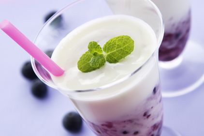Yogurt Based Smoothies - Not only will the thickness of the smoothie kill your appetite but since Yogurt is loaded with calcium just like milk…    Researchers at the University of Tennessee found out that you can lose 61% more fat and 81% more belly fat when adding yogurt to your diet because… The calcium in yogurt helps you burn fat and it also limits the amount of fat your body can make but…    Try to use the healthier Greek Yogurt in your smoothies along with adding some whey protein…