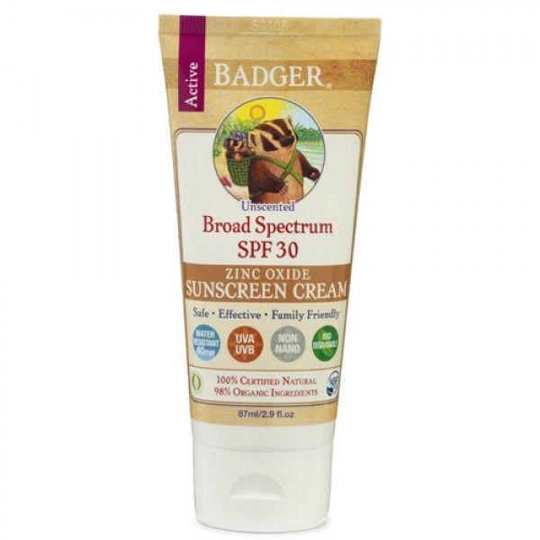Badger Sunscreen SPF30 Unscented
