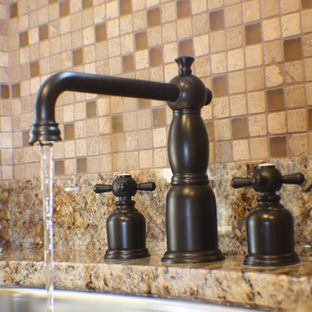 Oil Bronze Kitchen Faucet Grey Cabinets For Sale Rubbed Backsplash Remodel
