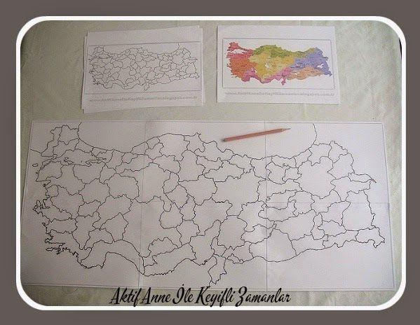 Aklımda hep böyle büyük bir Türkiye Haritası paylaşmak arzusu vardı. Çok lazım oluyor çeşitli derslerde, etkinliklerde, pano afiş yap...