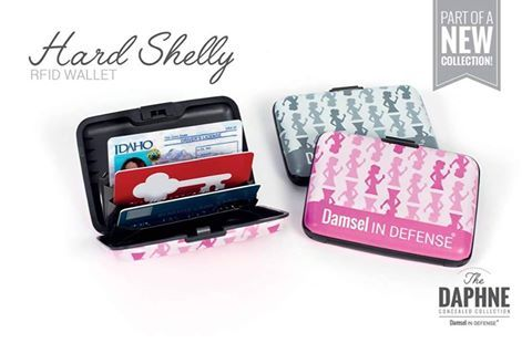 The Hard Shelly Wallet helps keep your credit cards and other information safe from scanners.  Protect your id and your credit with this stylish wallet.  Only $10. Visit www.mydamselpro.net/NICOLEMILLER/