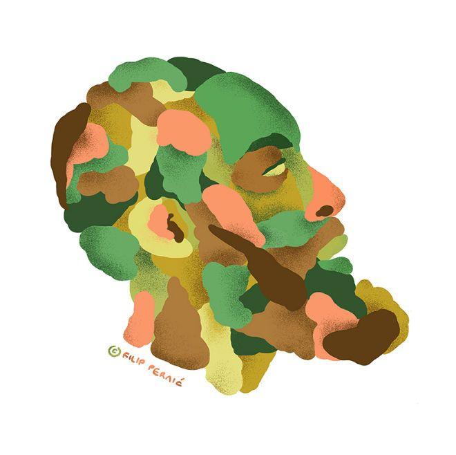 James Harden perfil ilustracion