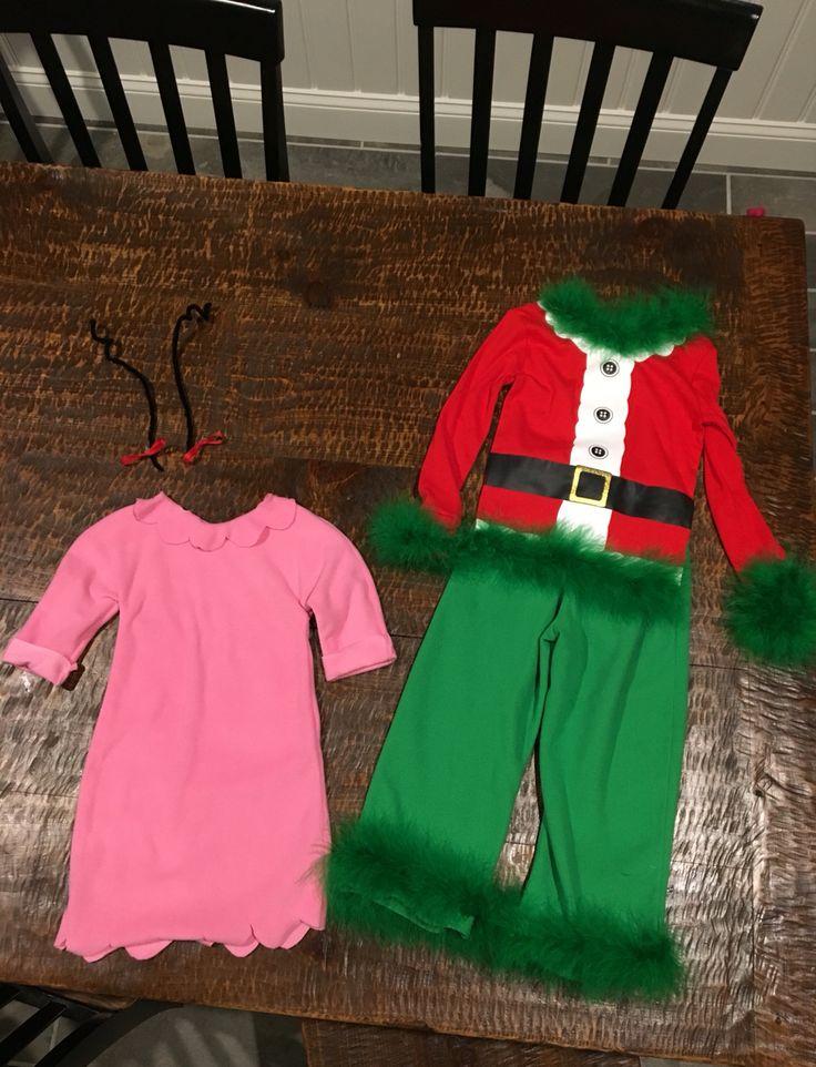 DIY cindy Lou who & grinch costume! Kids grinch costume