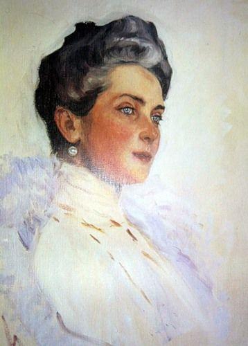 watercolor of Princess Zenaida Youssoupoff by Alexander Serov.