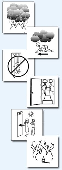 Fire Safety  Large Coloring Pictures