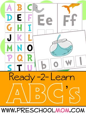 Super Silly Seussical Inspired Preschool Printables: Alphabet Tiles, Letter of the Day, Flash Cards and Build a Word.
