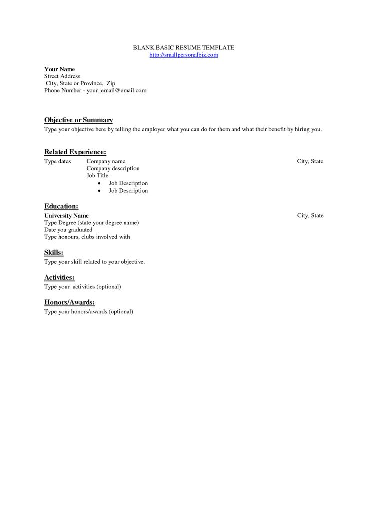 The 25+ best Basic resume examples ideas on Pinterest Employment - resume templates blank
