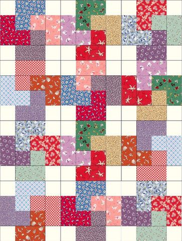 Aunt Grace Reproduction Cards Quilt Kit - 12 PRE-CUT Blocks
