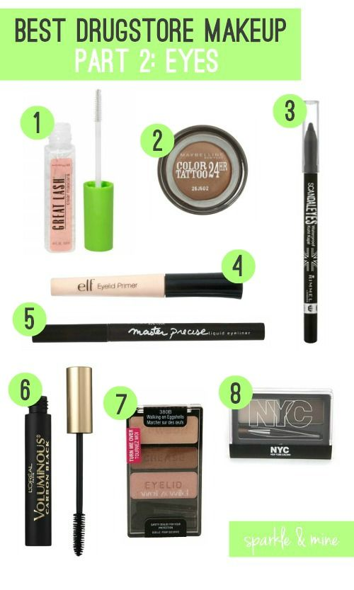 Best Brow Gel: Maybelline Great Lash Clear Mascara- If you suffer from uncooperative eyebrows, this brow gel is just what you need to lock them in place! The formula is solid enough to hold even the most stubborn hairs in place, but not so much that it gets thick or goopey on the eyebrows like other brands I've tried.