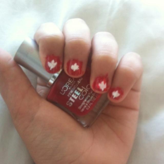 Canada day nails!!! Happy Canada Day!!
