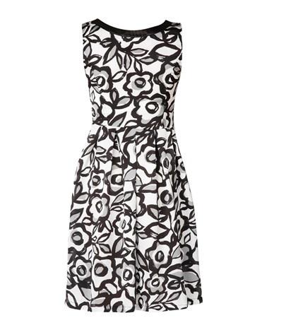 Σατέν ασπρόμαυρο φόρεμα - Καθημερινά - Φορέματα | Raxevsky