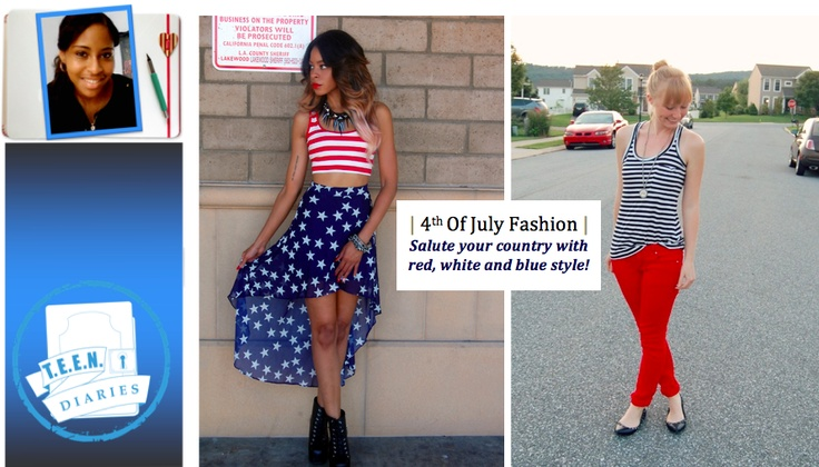 Red White and Blue Outfit.