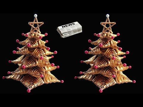 (2) How to make Table top Christmas Tree from Newspaper | DIY Christmas Crafts - YouTube