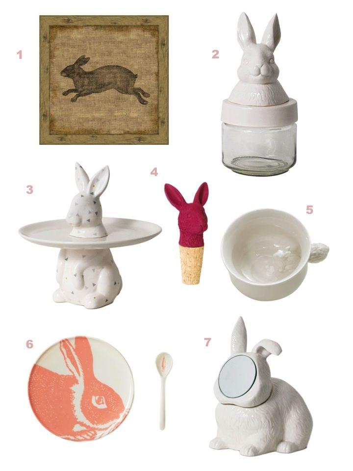 541 best images about rabbit decor on pinterest ceramics for Rabbit decorations home