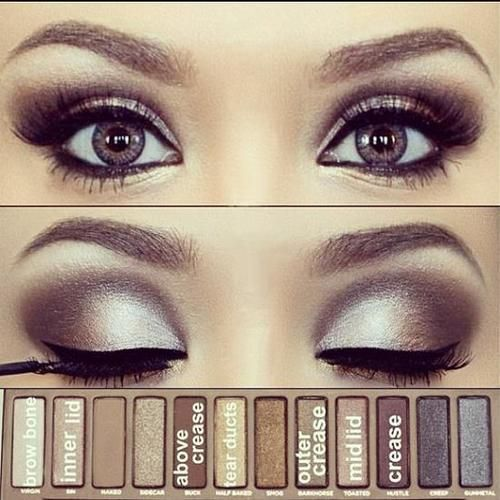 Urban Decay Naked Palette. It would take me 2 hrs to get my eyes to look like this.