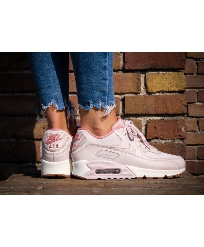 new concept cac1b 8b7db Nike Air Max 90 LEA Trainers In Pink White