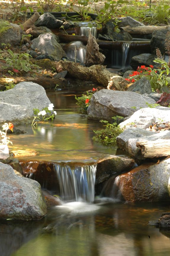 Pretty waterfall but you can see the bio falls at the top for Garden pond waterfalls for sale