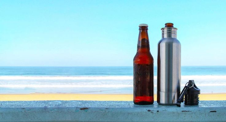 An insulated stainless steel container that keeps your beer colder, protected from gravity and sexier than ever.