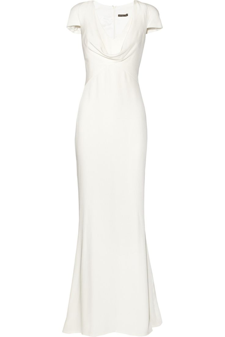 Simple elegance... Alexander McQueen 'Cowl-neck silk-crepe gown' £2,118 from net-a-porter.com
