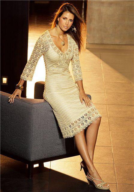 Elegan Summer dress free crochet graph pattern