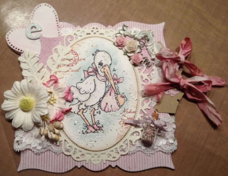 Baby card Delivery from heaven Magnolia Maja design