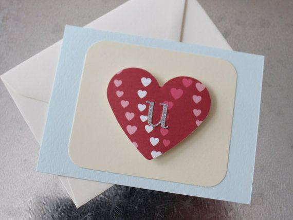 LOVE U Valentine Card by LYHHandmadeGifts on Etsy