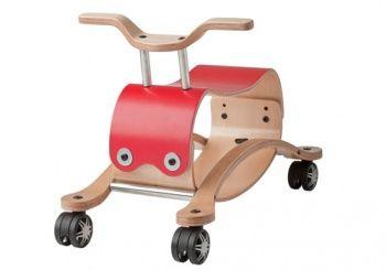 Jeździk, chodzik i bujaczek Wishbone Mini Flip - Czerwony