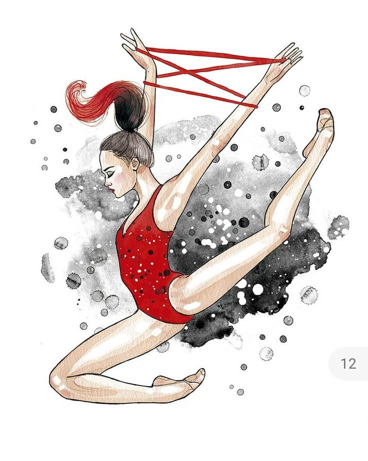 Нарисованная гимнастка картинки